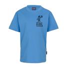 KINDER T-Shirt unisex, 100% BW, (Gr. 116-164) in malibu